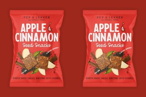 Pep and Lekker cinnamon and apple seed snacks