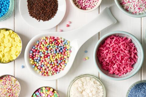 Cake sprinkles and decorations