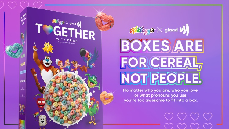 Read more about the article Kellogg's collab with GLAAD unpacks the relevance of a location at the table for everybody