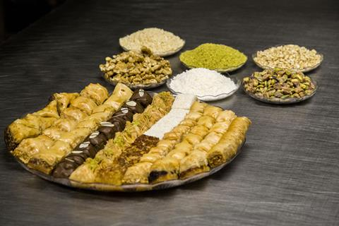 Dina Foods manufacturers flatbreads and baklawas, among other Mediterranean food