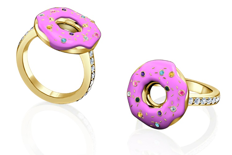 Get her to claim 'I do' with a Krispy Kreme-inspired conflict-free ruby ring