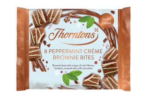 Thorntons Peppermint Creme brownie bites