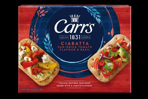 Pladis reveals face-lift as well as NPD for Carr's biscuit brand name