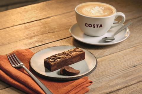 You are currently viewing Terry's Chocolate Orange Brownie debuts on Costa autumn food selection